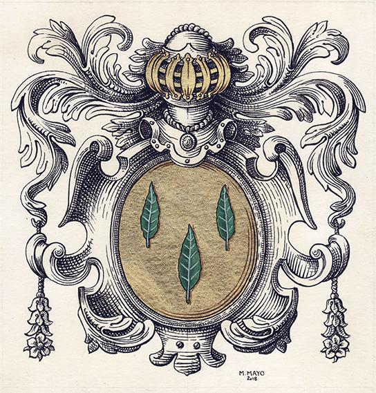 armoiries LE LORIER seigneur de Giverny